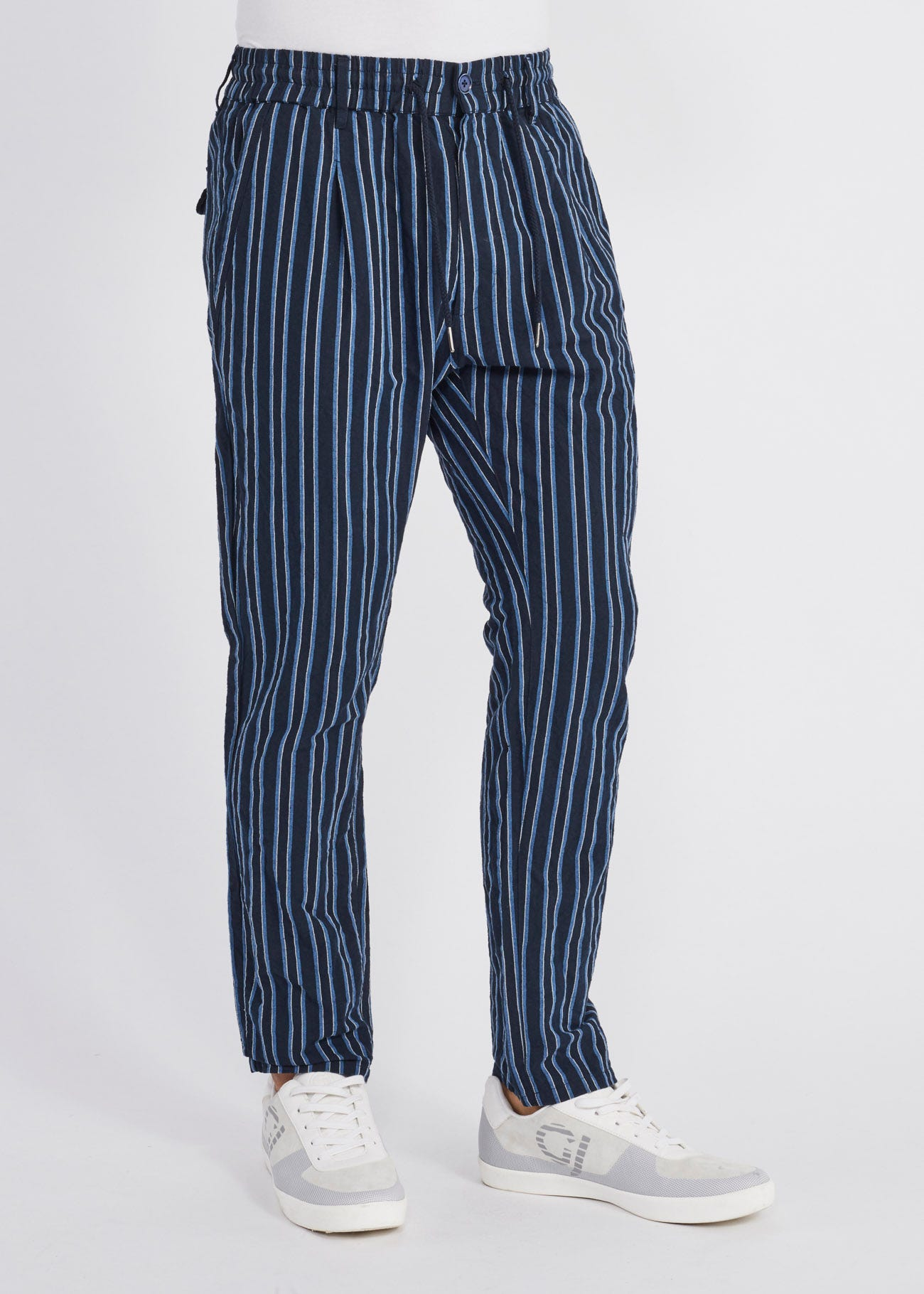 5ee3ffbcc4 Pinstriped jogging trousers