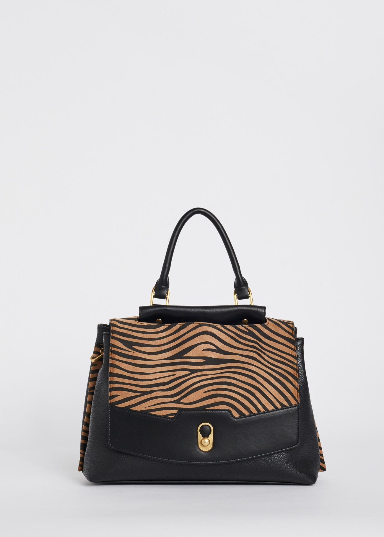 Bag with animal print inserts