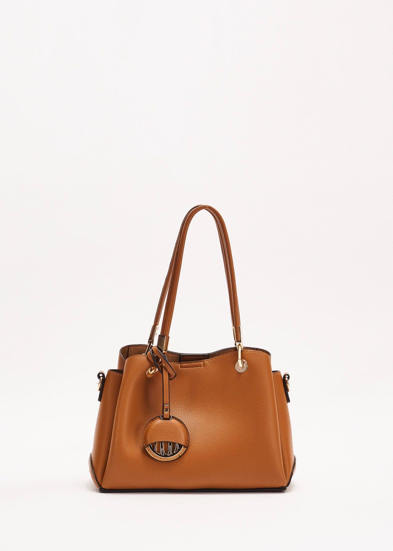 Top handle bag with charm