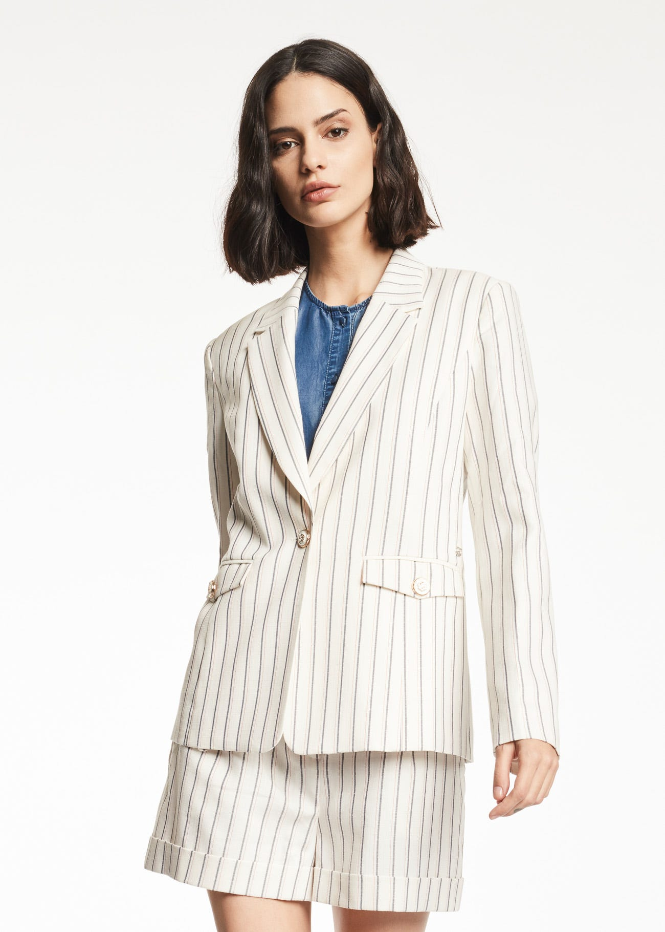 Blazer in viscosa stretch