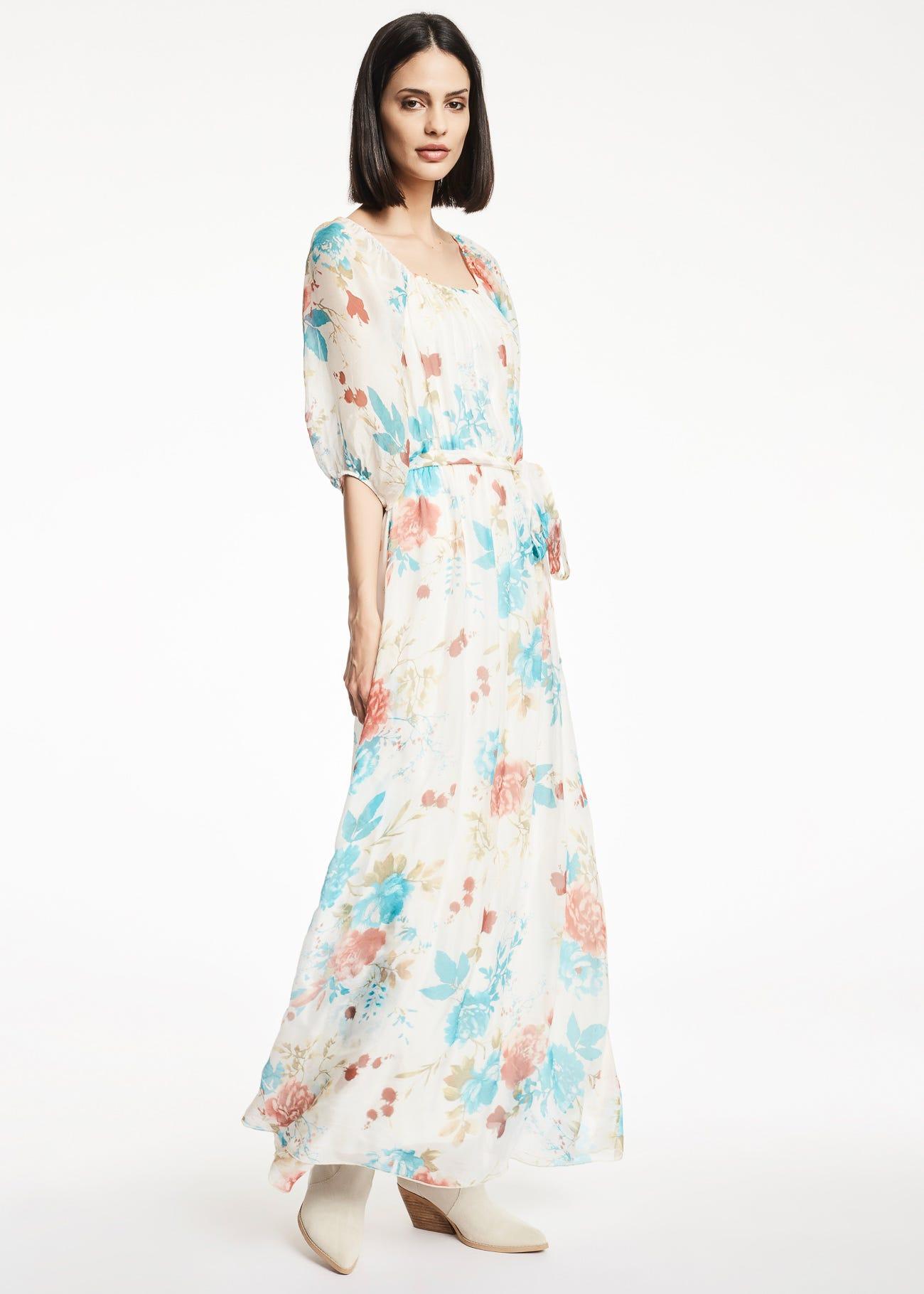 Viscose and silk blend dress