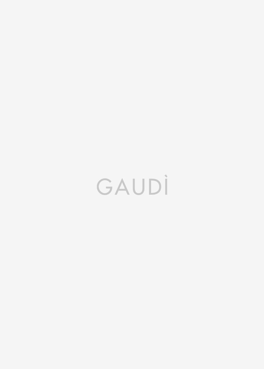 Faux leather crew neck jacket